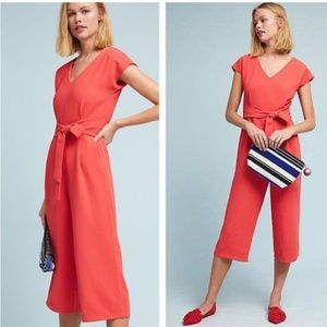 NWT Anthropologie Red Sedona Jumpsuit ETT:TWA